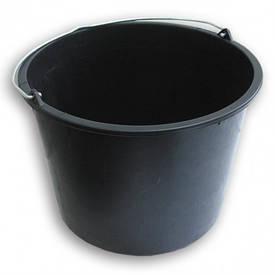 Ведро пластмассовое черное (16 л)