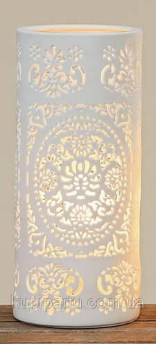 Светильник ночник Шари белая керамика h20см 4259200