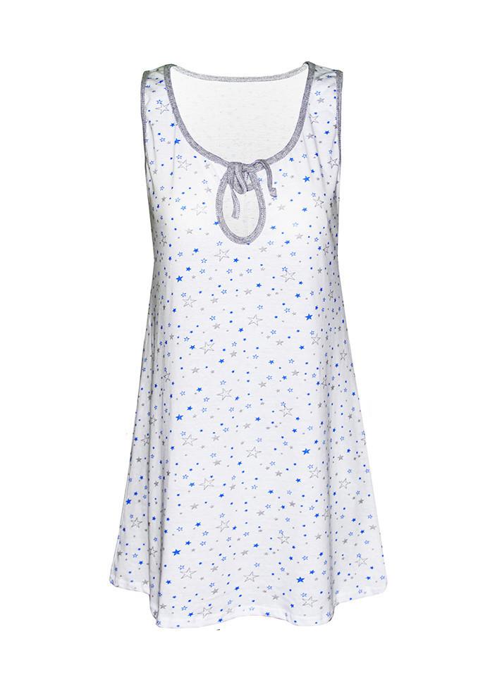 Ночная рубашка Звезды (синие) р. 54-56