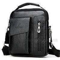 Сумка мужская Usmivka планшет черная 54368, фото 1