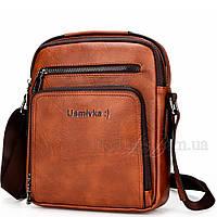 Сумка мужская Usmivka планшет коричневая 54365, фото 1