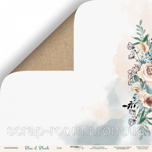 Лист двусторонней бумаги 30x30 от Scrapmir Крафт из коллекции Blue & Blush