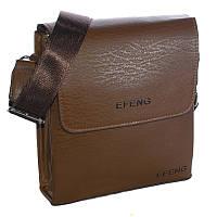 Сумка мужская Effeng через плечо коричневая 54180