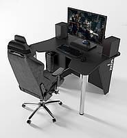 """Стол компьютерный 140х92х75 см. """"Igrok-3"""" Геймерский, черный/черный, фото 1"""