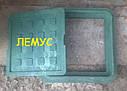 Люк квадратный 300х300 полимерпесчаный  зеленый без замка, фото 2