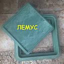 Люк квадратный 300х300 полимерпесчаный  зеленый без замка, фото 3