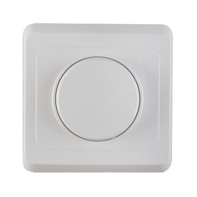 Электрический выключатель-регулятор освещения (белый)