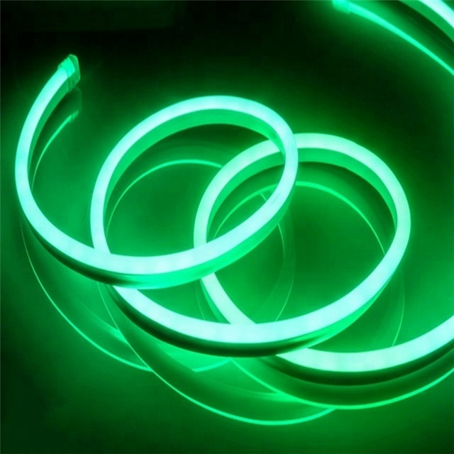 Светодиодный уличный гибкий неон LTL FLEX 8х16mm 120 LED 2835smd IP67 220v Green