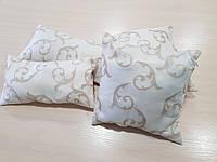 Комплект подушек Беж завитки с молочным, 4шт