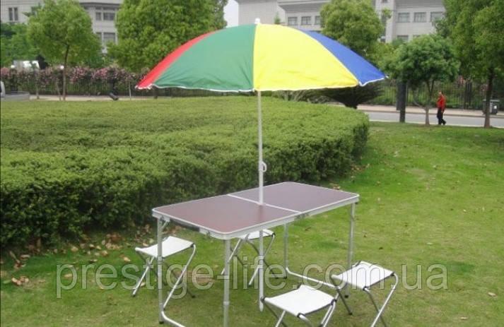 Стол-чемодан. Туристический стол и стулья Voyage для пикника + 4 стула