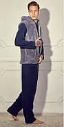 Мужской домашний костюм с махровой жилеткой р.50-54, фото 4