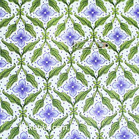 38018 Цветок сирени (фон бежевый). Ткань с мелким фоновым рисунком. Хобби ткани для творчества.