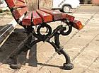 Лавка садово-парковая чугунная со спинкой №10, фото 2