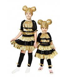 Детский карнавальный костюм КУКОЛКА ЛОЛ ПЧЕЛА LOL для девочки 3,4,5,6,7,8,9 ПЧЕЛКА ЛОЛ
