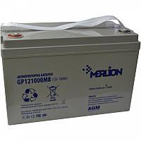 Аккумулятор AGM - 100 Ач, 12В гелевый Merlion GP121000M8, фото 4