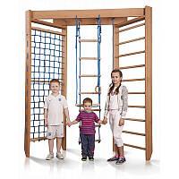 Детский угловой спортивный комплекс из бука Baby 4-240, фото 1