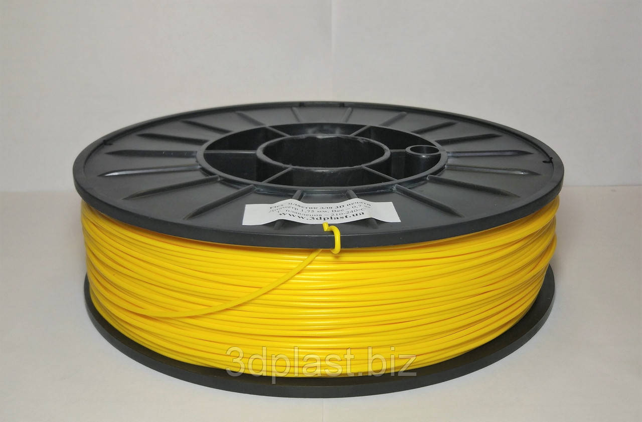 FLEX пластик для 3D печати,1.75 мм желтый