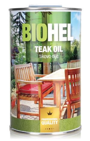 Натуральне масло для захисту деревини BIOHEL TEAK OIL (ТИКА МАСЛО) 1 л. Каштан