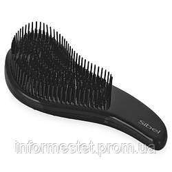 Щетка массажная массажная с нейлоновыми зубьями D-Meli-Melo Sibel черная
