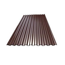 Профнастил ПС-10 950x2000 мм шоколадный (RAL 8017) (лист)