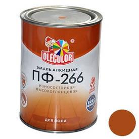 Краска Эмаль ПФ-266 желто-коричневая (0,9 кг)