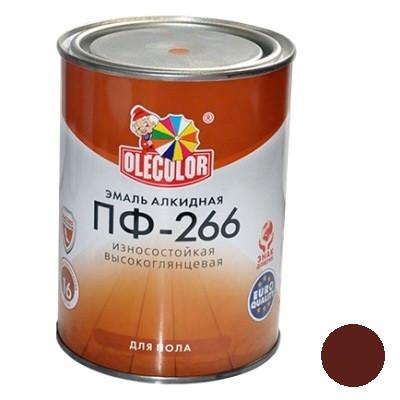 Эмаль ПФ-266 красно-коричневая (0,9 кг)