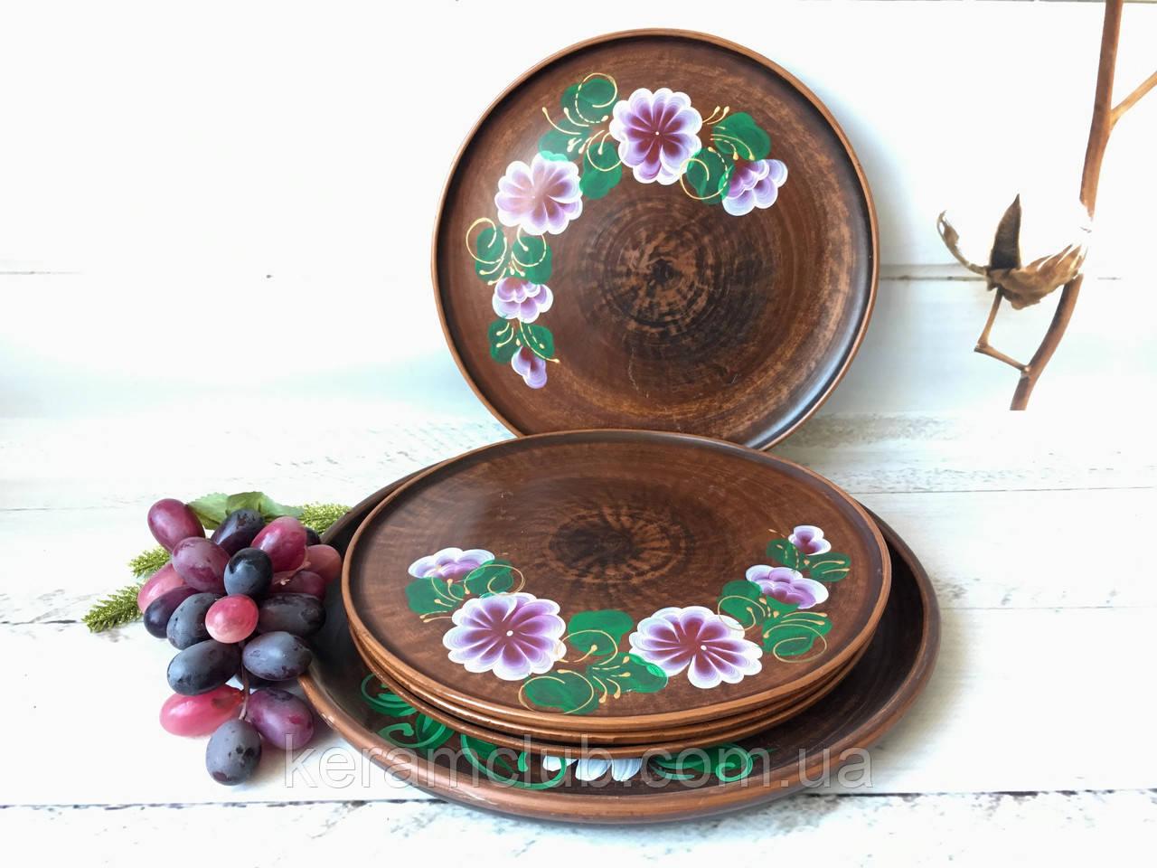Рисованный набор блюдо 30 см + 4 тарелки 25 см