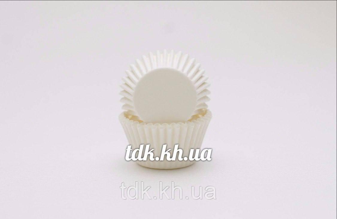 Бумажная формочка для конфет белая 3b, Ø30 бортик – 24 мм 2000 шт