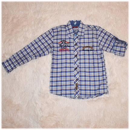 Рубашка детская на мальчика в клетку размер 110, фото 2