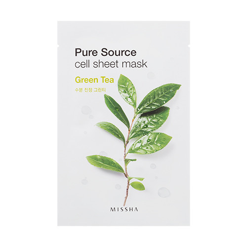 Тканинна маска з екстрактом зеленого чаю Missha Pure Source Sheet Mask 21 г (454729)