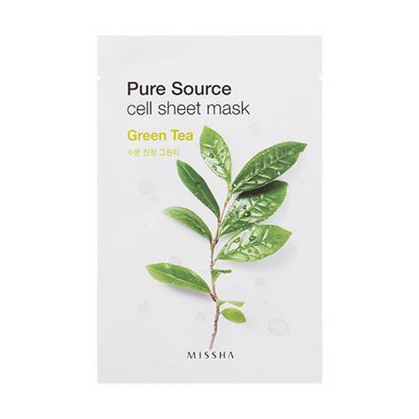 Тканинна маска з екстрактом зеленого чаю Missha Pure Source Sheet Mask 21 г (454729), фото 2