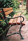 Лавка садово-парковая чугунная со спинкой №13, фото 2