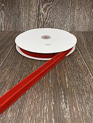 Лента бархатная стрейчевая 20 мм 25 ярдов красная