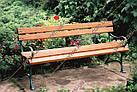 Лавка садово-парковая чугунная со спинкой №13, фото 3