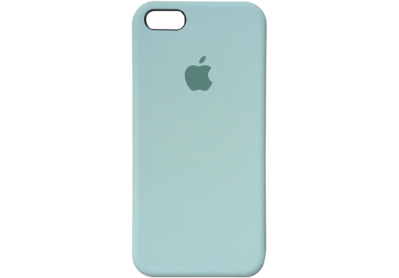 Чехол iPhone 5 / 5s / SE Silicone Case OEM ( Бледно синий 5)