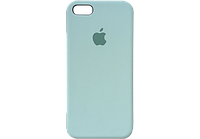 Чехол iPhone 5 / 5s / SE Silicone Case OEM ( Бледно синий 5)