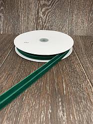 Лента бархатная стрейчевая 20 мм 25 ярдов зелёная