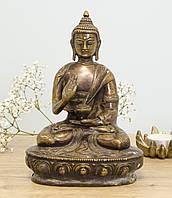 Старая бронзовая статуэтка, Будда Амитабха, бронза, Европа, фото 1