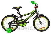 """Детский велосипед FORMULA FURY 16"""" (черно-зеленый с кр.)"""