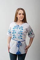 Вышиванка женская Роза. Голубой орнамент., фото 1