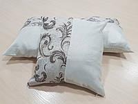 Комплект подушек Парча серебро с завитками, 3шт, фото 1