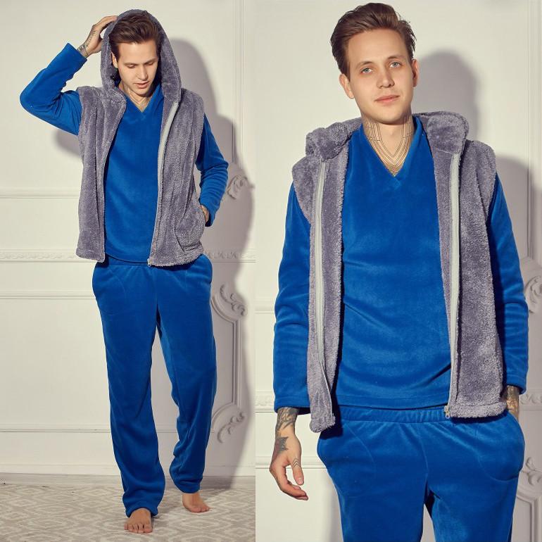 Мужской домашний костюм с махровой жилеткой р.50-54 - Интернет магазин  PARMA в 75929670fcf4e