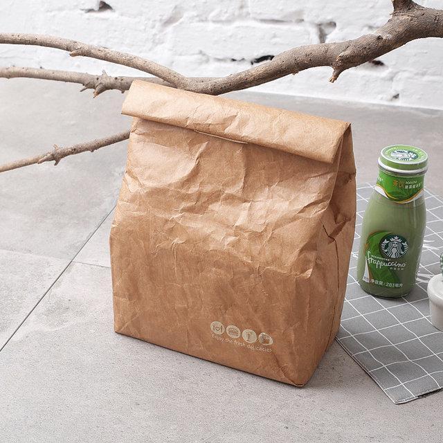 e154e8102102 Ланч бэг (термосумка), сумка для ланча, сумка для еды, крафт сумка ...