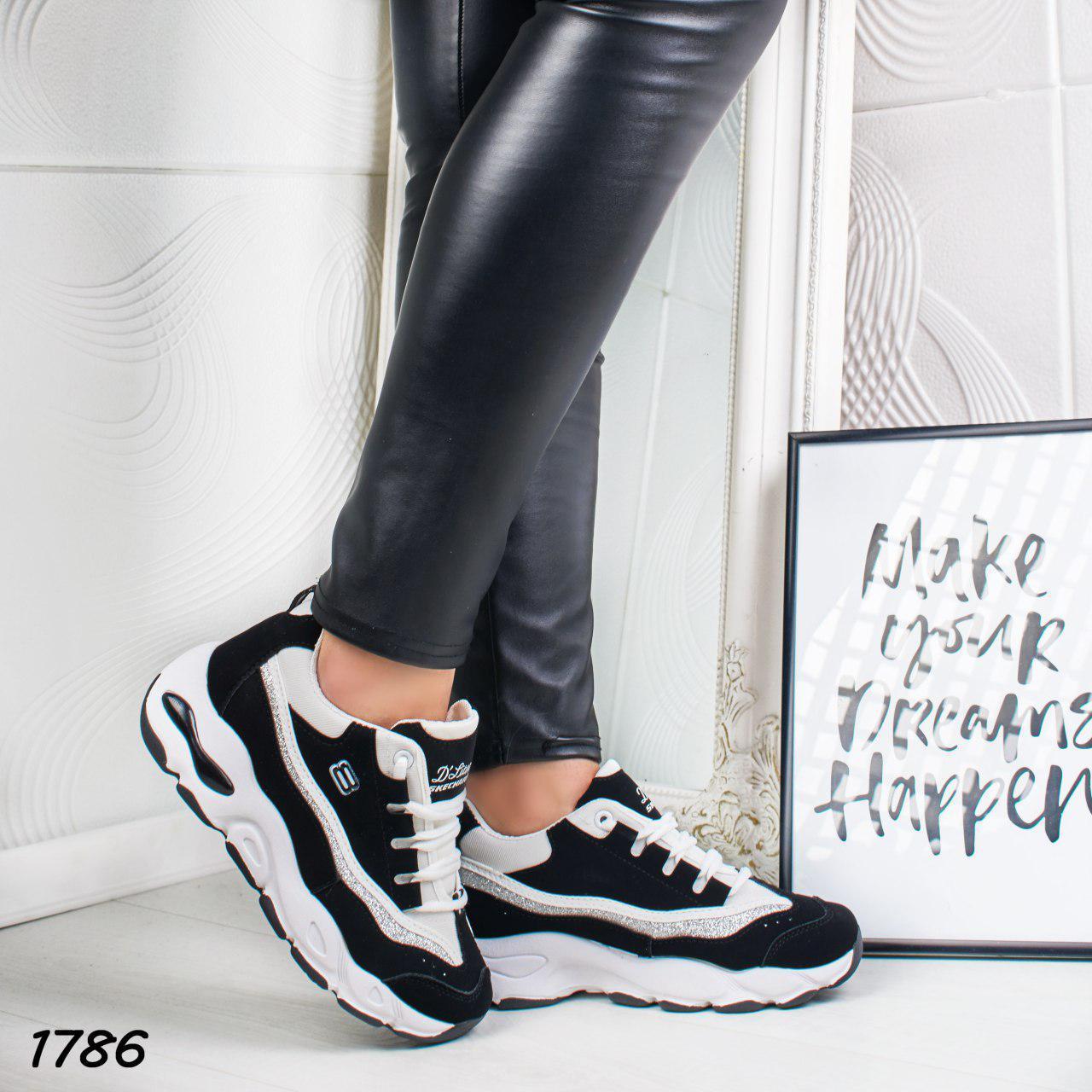 84ef23f10 Стильные черно-белые женские кроссовки р. 36, цена 380 грн., купить ...
