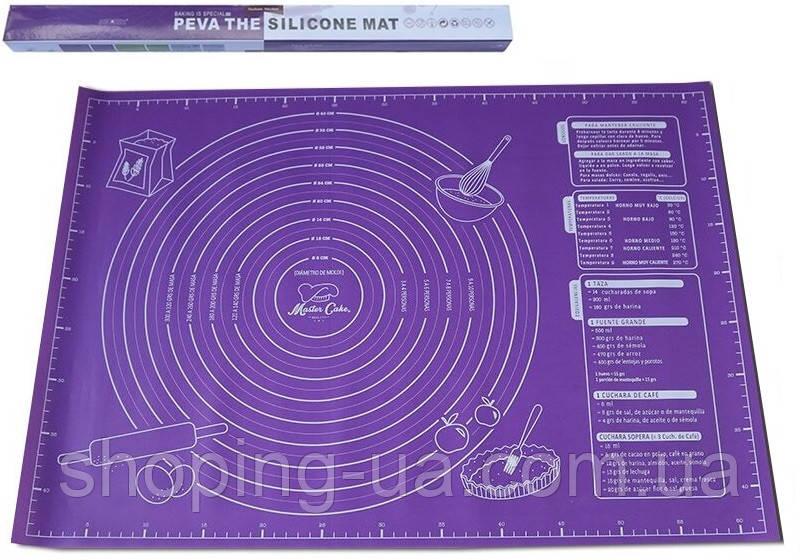 Коврик для раскатки теста фиолетовый 60 х 45 170430