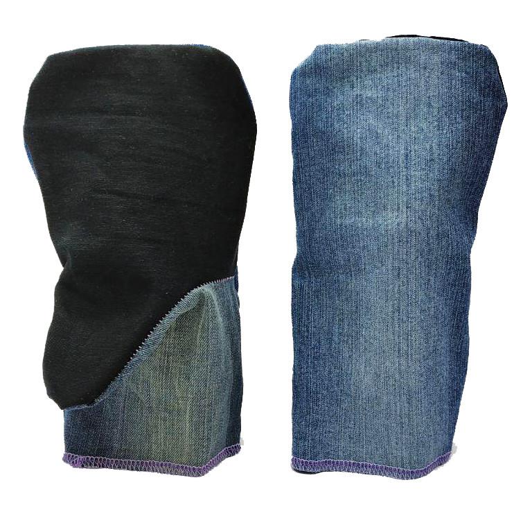 Рукавицы рабочие, двойной джинс, двухпалые, уп. — 20 пар