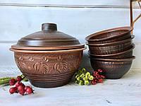 Набор супница и 4 тарелочки 600 мл, фото 1