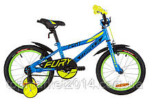 "Дитячий велосипед FORMULA FURY 16"" (блакитний з зеленим)"