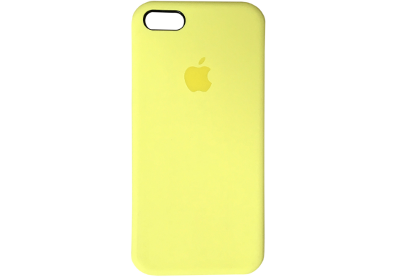 Чехол iPhone 5 / 5s / SE Silicone Case OEM ( Желтый 37)