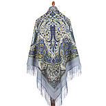 Изюминка 1811-1, павлопосадский платок шерстяной  с шелковой бахромой, фото 3